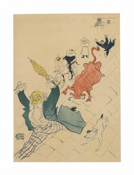 Henri de Toulouse-Lautrec-La Vache Enragee-1896