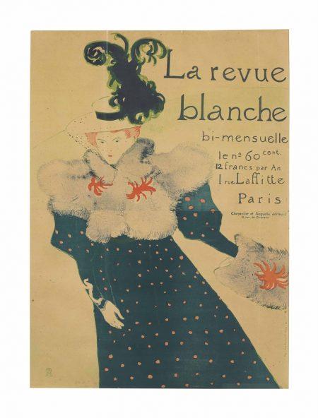 Henri de Toulouse-Lautrec-Femme a la glace - La glace a main, from Elles-1896