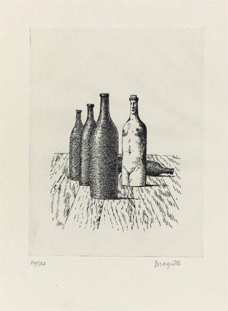 Rene Magritte-La Comtesse de Monte Cristo, from Aube a l'Antipode-
