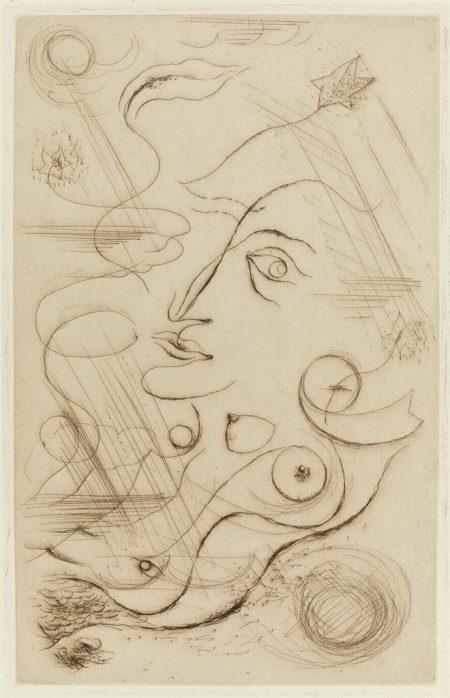 Robert Desnos, C'est les bottes de 7 lieues cette phrase Je me vois, Galerie Simon, Paris, 1926-1926