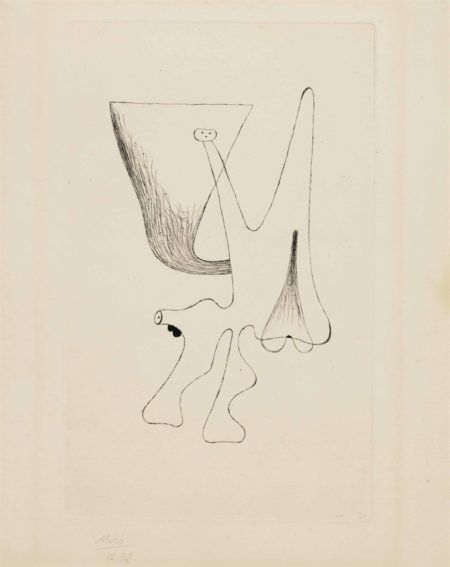Joan Miro-Plate 2, from Enfances-1933