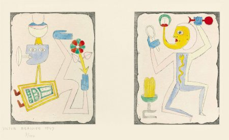Victor Brauner-Untitled, from Brunidor Portfolio Number 2, 1947-1952-1947