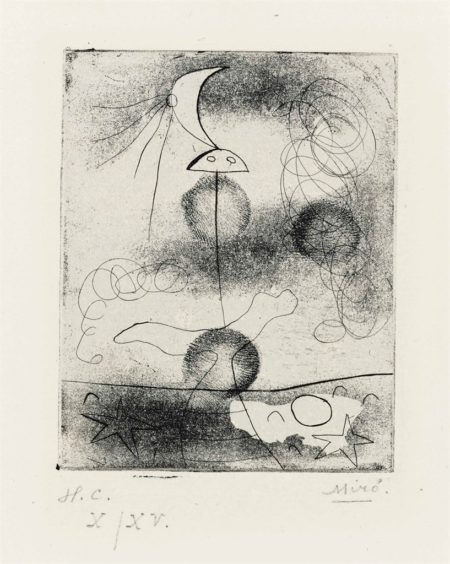 Joan Miro-Untitled, from Paul Elvard Solidarite-1938