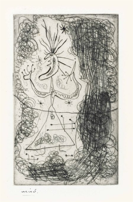Joan Miro-Untitled, from Stephen Spender Fraternity-1939