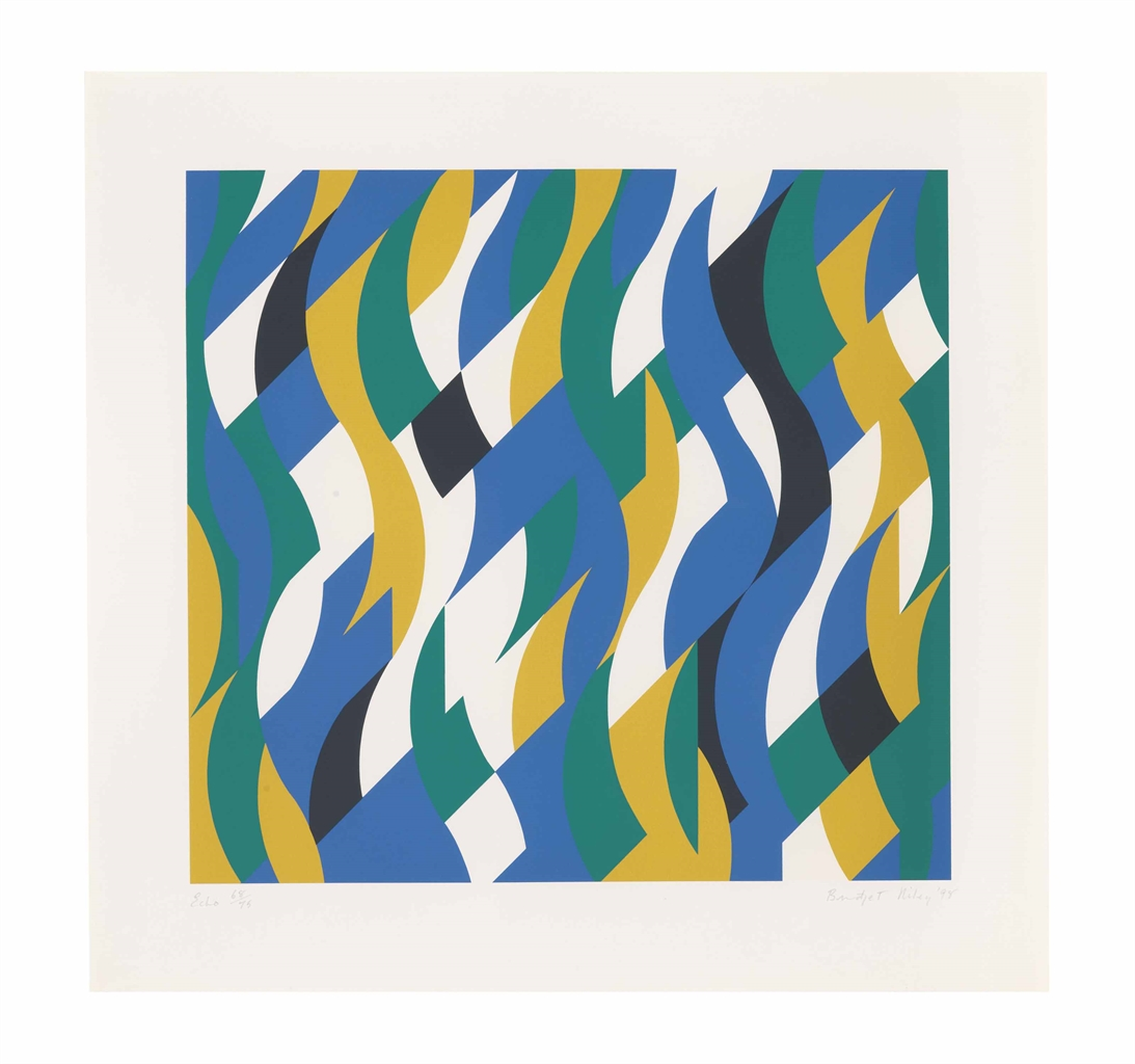 Bridget Riley-Echo-1999