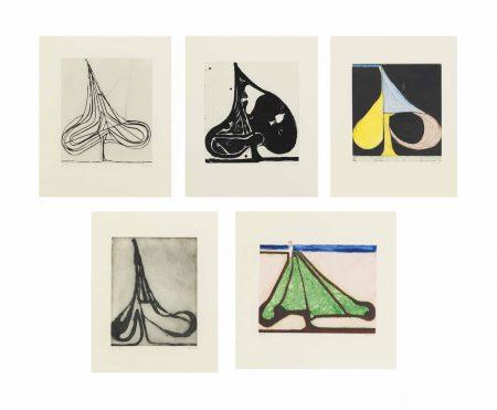 Richard Diebenkorn-Five Spades-1982