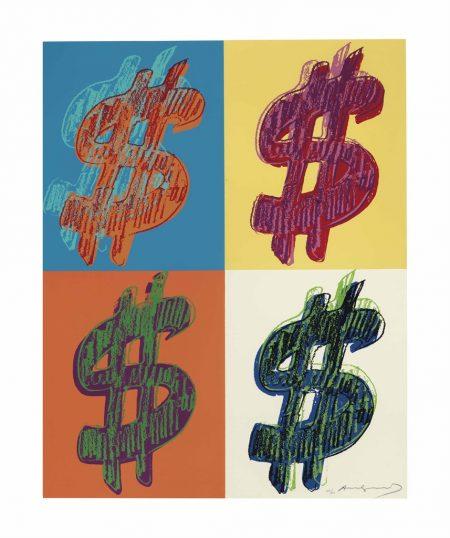 Andy Warhol-$ (Quadrant): one plate-1982