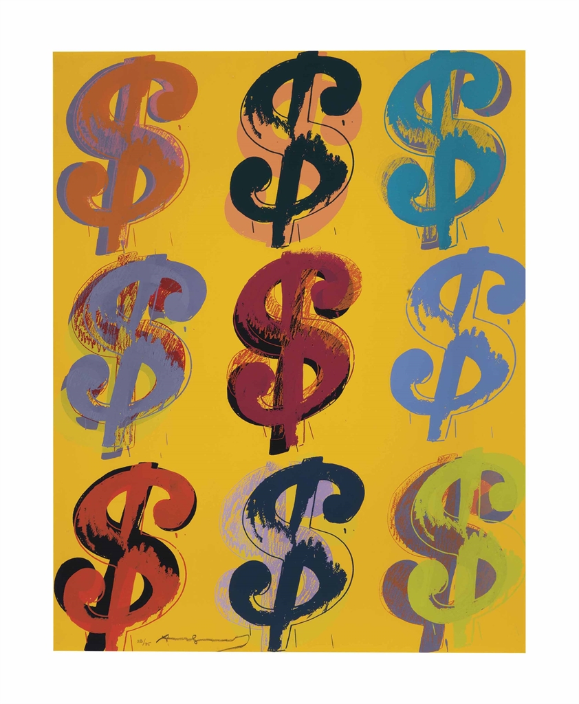 Andy Warhol-$ (9): one plate-1982
