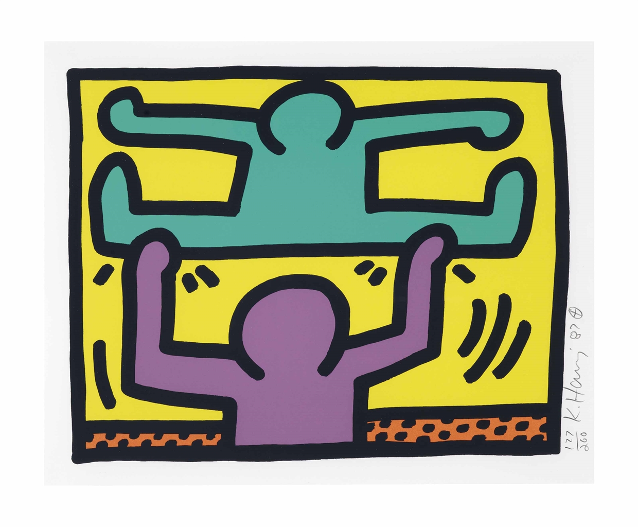 Keith Haring-Pop Shop I: one plate-1987
