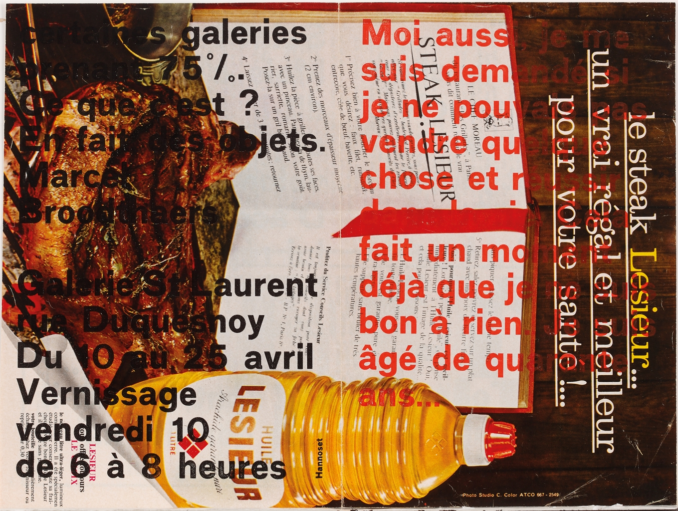 Marcel Broodthaers-Moi aussi, je me suis demande si je ne pouvais pas vendre quelque chose... (I, too, wondered whether I could not sell something...)-1964