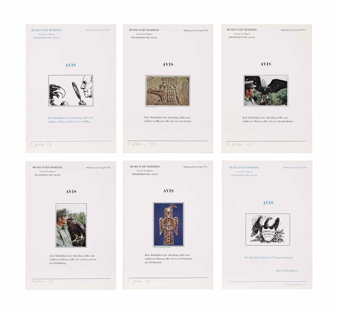 Marcel Broodthaers-Six lettres ouvertes Avis (Six Open Letters Announcement)-1972