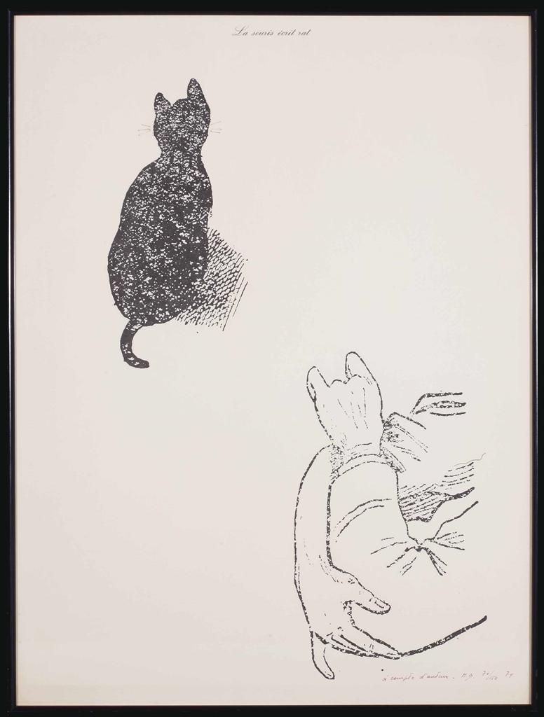 Marcel Broodthaers-La Souris ecrit rat (A compte d'auteur) (The Mouse Writes Rat (At the Author's Expense))-1974