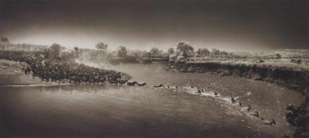 Nick Brandt-Zebras Crossing River, Maasai Mara-2006