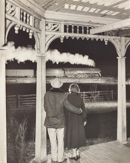 O. Winston Link-Mr. And Mrs. Pope Watch The Last Steam Powered Passenger Train, Max Meadows, Virginia-1957