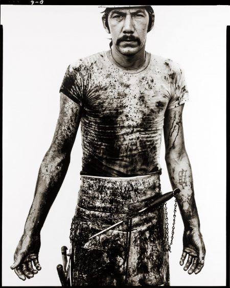 Richard Avedon-Blue Cloud Wright, Slaughterhouse Worker, Omaha, Nebraska, August 10, 1979-1979