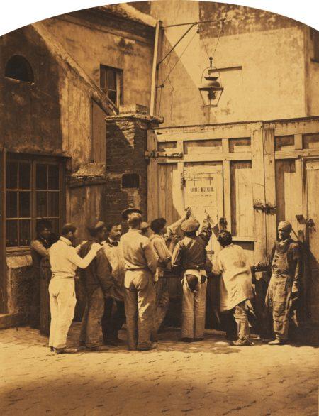 Camille Silvy-'Lecture Dans Les Rues De Paris De L'Ordre Du Jour Adresse A L'Armee D'Italie'-1859