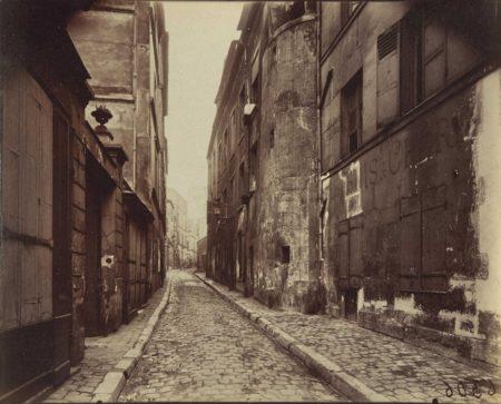 Eugene Atget-Rue St Rustique, Paris-1900