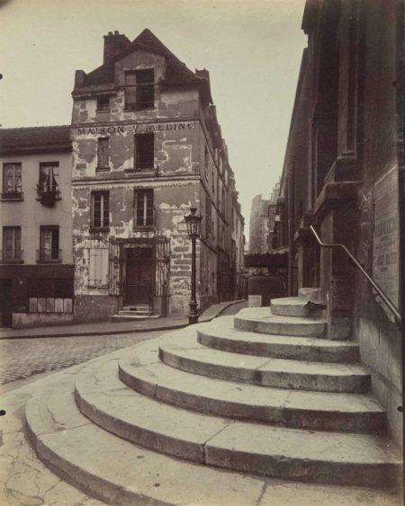 Eugene Atget-Coin, Rue de la Montagne Sainte Genevieve, Paris-1923