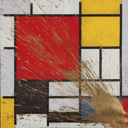 Mr. Brainwash-Mondriart (Gold)-2010