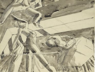 David Bomberg-Study Of Dancers For The Ghetto Theatre Series-1919