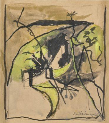 Graham Sutherland-Entrance To A Lane-1939