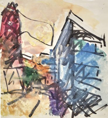 Frank Auerbach-To The Studios-1982