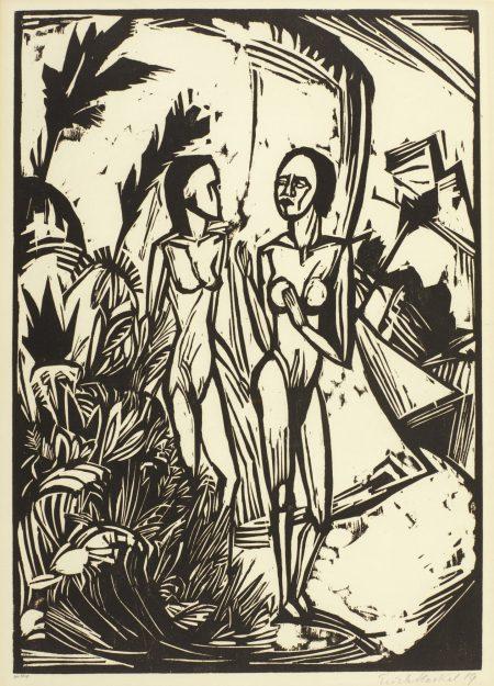 Erich Heckel-Frauen Am Strand-1919