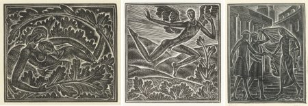 Eric Gill-Three Illustrations From Canticum Canticorum-1930