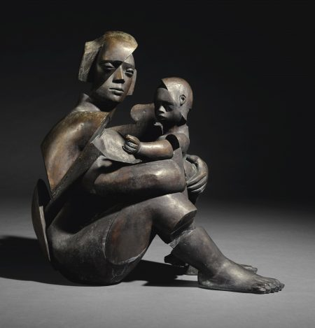 Glynn Williams-Sitting Holding Looking-1991