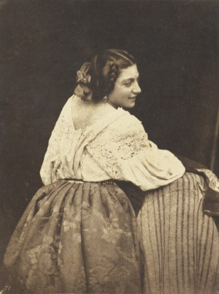 Julien Vallou de Villeneuve-Femme Assise Vers-1850