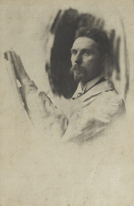 Pierre Dubreuil-Portrait Of A Painter-1902