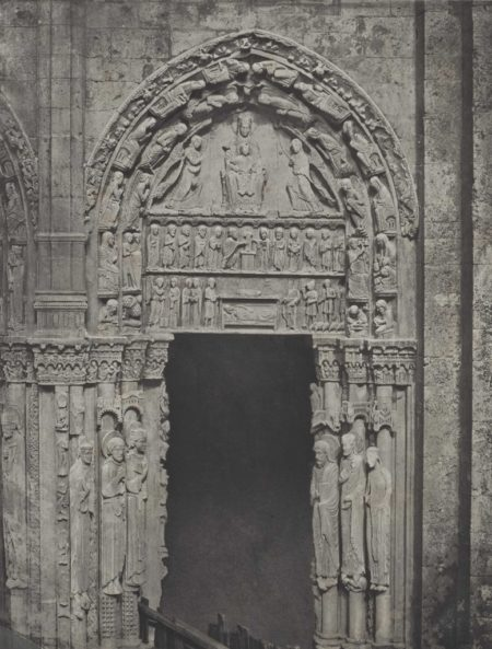 Charles Negre-Cathedrale de Chartres. Cote occidental. Porte laterale de droite-1857