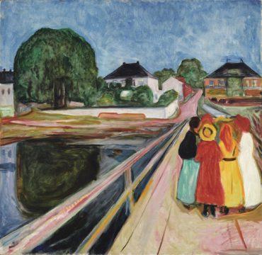 Edvard Munch-Pikene Pa Broen (Girls On The Bridge)-1902