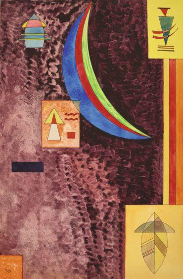 Wassily Kandinsky-Scharf (Sharp)-1928