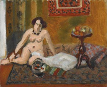 Henri Matisse-Nu Accroupi Devant Un Aquarium (Nu Aux Poissons Rouges)-1922