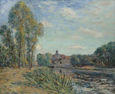 Alfred Sisley-Fin D'Apres-Midi A Moret-1891