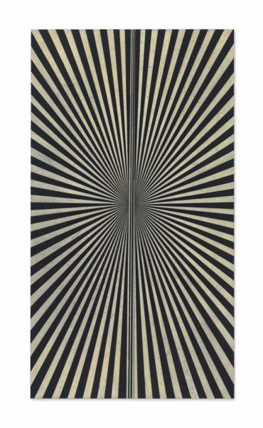 Mark Grotjahn-Untitled (Creamsicle 865)-2010