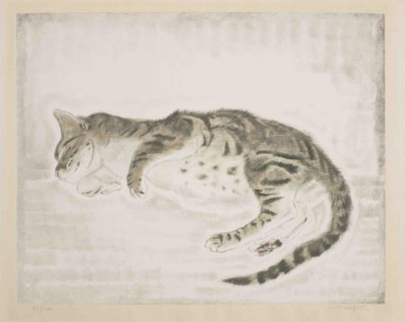 Tsuguharu Foujita-Cat with Spotty Belly, from Les Chats (Buisson 29.200.2)-1930