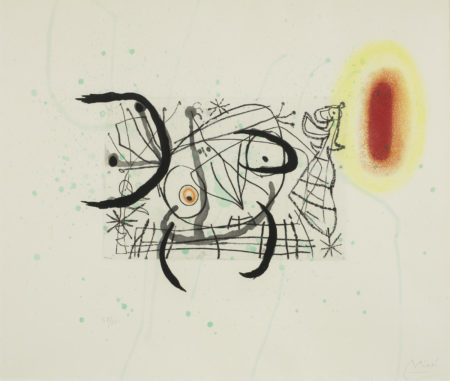 Joan Miro-Plate 11, from Fissures (Dupin 475)-1969