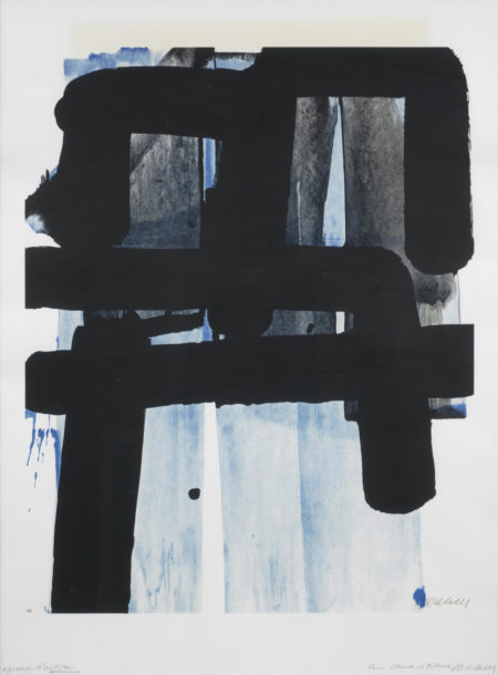 Pierre Soulages-Serigraphie No.2 (Pierre Encreve & Marie-Cecile Miessner 94)-1973