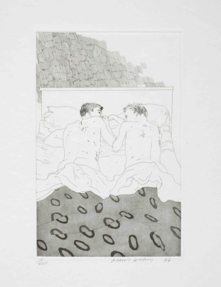 David Hockney-Illustrations for Fourteen Poems from C.P. Cavafy (S.A.C. 47-59; MCA Tokyo 47-59)-1966