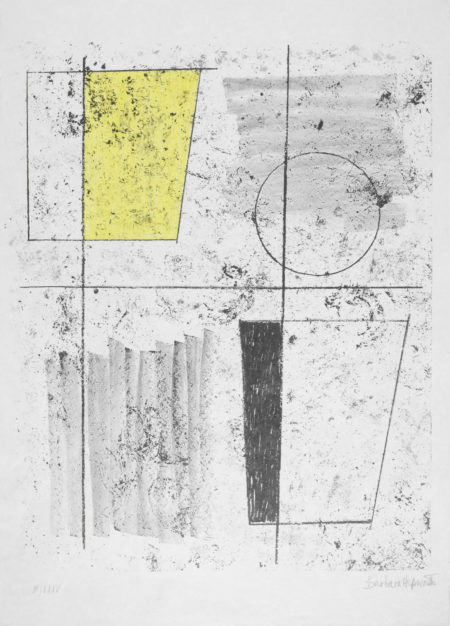 Barbara Hepworth-Three Forms Assembling, from Europaische Graphik VI-1968