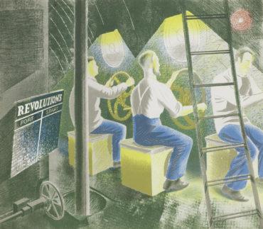 Eric William Ravilious-Diving Controls I, from Submarines-1941