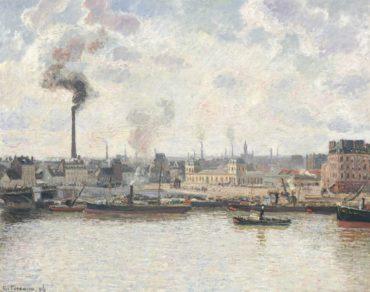 Camille Pissarro-La Gare d'Orleans, Saint-Sever, Rouen-1896