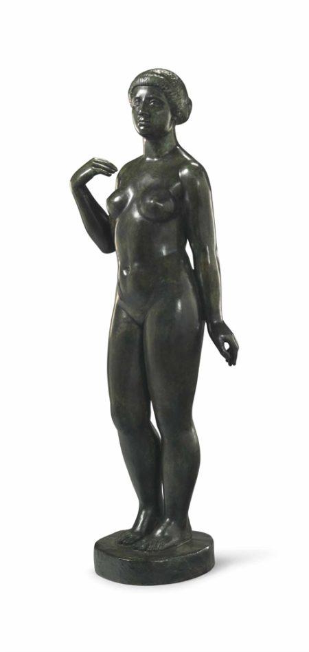 Aristide Maillol-Baigneuse sans draperie (Premier etat)-1921