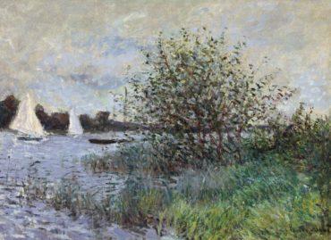 Claude Monet-Les bords de la Seine pres d'Argenteuil-1874