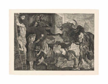 Pablo Picasso-La Minotauromachie-1935