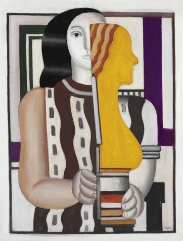 Fernand Leger-Femme portant une statuette-1925