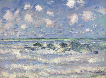 Claude Monet-La Vague-1880