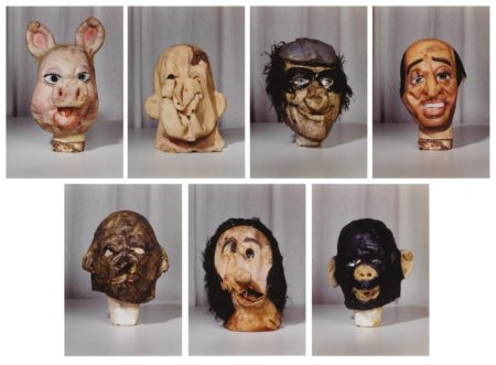 Masks (Small) From The Propo Series (Portfolio Of 7)-1994